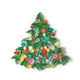 Χριστουγεννιάτικο δέντρο εγγράφου, χέρι - που γίνεται. Στοκ φωτογραφίες με δικαίωμα ελεύθερης χρήσης