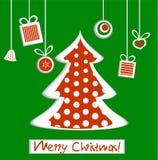 Χριστουγεννιάτικο δέντρο με τα δώρα Στοκ φωτογραφίες με δικαίωμα ελεύθερης χρήσης