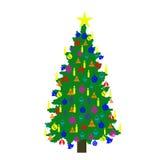 χριστουγεννιάτικο δέντρ&om Στοκ Εικόνα