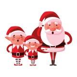 Χριστούγεννα Άγιος Βασίλης και διακόσμηση νεραιδών απεικόνιση αποθεμάτων