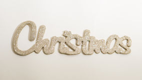 Χριστούγεννα λέξης διακοσμήσεων Χριστουγέννων Στοκ φωτογραφίες με δικαίωμα ελεύθερης χρήσης