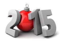 Χριστούγεννα έτους ANS του 2015 νέα Στοκ φωτογραφία με δικαίωμα ελεύθερης χρήσης