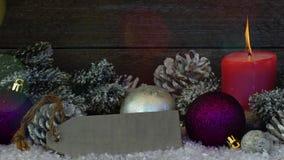 Χριστούγεννα ή νέα ανασκόπηση έτους απόθεμα βίντεο