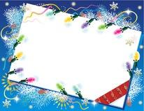 Χριστούγεννα ή νέα ανασκόπηση έτους Στοκ Εικόνες