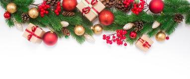 Χριστούγεννα ή νέα ανασκόπηση έτους Στοκ φωτογραφία με δικαίωμα ελεύθερης χρήσης