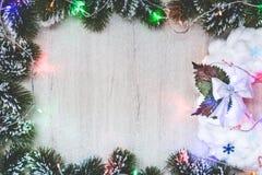 Χριστούγεννα ή νέο έμβλημα έτους Στοκ Φωτογραφίες