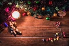 Χριστούγεννα ή νέο ντεκόρ φεστιβάλ έτους στοκ εικόνα με δικαίωμα ελεύθερης χρήσης