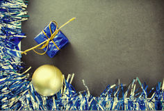 Χριστούγεννα ή νέο πρότυπο εμβλημάτων έτους με τη θέση κειμένων Στοκ φωτογραφίες με δικαίωμα ελεύθερης χρήσης