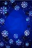 Χριστούγεννα ή νέο υπόβαθρο έτους με χρυσά snowflakes αφηρημένη απεικόνιση Εύκολο σύγχρονο πρότυπο ελεύθερη απεικόνιση δικαιώματος