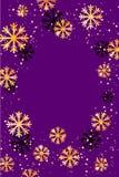 Χριστούγεννα ή νέο υπόβαθρο έτους με χρυσά snowflakes αφηρημένη απεικόνιση Εύκολο σύγχρονο πρότυπο Διανυσματική απεικόνιση