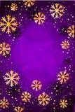 Χριστούγεννα ή νέο υπόβαθρο έτους με χρυσά snowflakes αφηρημένη απεικόνιση Εύκολο σύγχρονο πρότυπο Απεικόνιση αποθεμάτων