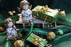Χριστούγεννα αγγέλου Στοκ Φωτογραφία