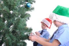 Χριστούγεννα αγοριών πο&upsilo Στοκ εικόνες με δικαίωμα ελεύθερης χρήσης