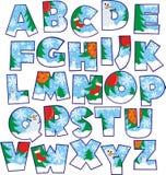 Χριστούγεννα αλφάβητου Στοκ φωτογραφίες με δικαίωμα ελεύθερης χρήσης
