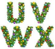 Χριστούγεννα αλφάβητου Στοκ Φωτογραφία