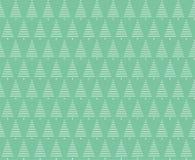 Χριστούγεννα ανασκόπησης άνευ ραφής Άνευ ραφής πρότυπο χριστουγεννιάτικων δέντρων Στοκ Εικόνες