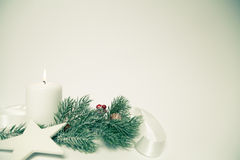 Χριστούγεννα ανασκόπησης αναδρομικά Στοκ Φωτογραφία