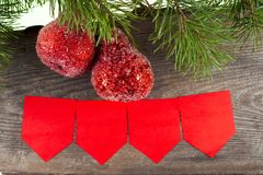 Χριστούγεννα ανασκόπησης εύθυμα νέο έτος Διακοσμήσεις δέντρων Στοκ Εικόνα