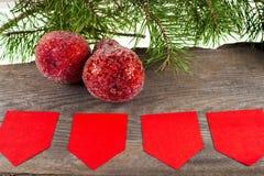 Χριστούγεννα ανασκόπησης εύθυμα νέο έτος Διακοσμήσεις δέντρων Στοκ Εικόνες