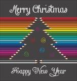 Χριστούγεννα ανασκόπησης εύθυμα Στοκ Εικόνα