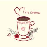 Χριστούγεννα ανασκόπησης εύθυμα Διανυσματική απεικόνιση