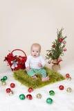Χριστούγεννα ανασκόπησης μωρών που απομονώνονται πέρα από το λευκό Στοκ φωτογραφία με δικαίωμα ελεύθερης χρήσης