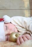 Χριστούγεννα ανασκόπησης μωρών που απομονώνονται πέρα από το λευκό Στοκ φωτογραφίες με δικαίωμα ελεύθερης χρήσης