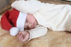 Χριστούγεννα ανασκόπησης μωρών που απομονώνονται πέρα από το λευκό Στοκ Εικόνες