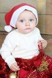 Χριστούγεννα ανασκόπησης μωρών που απομονώνονται πέρα από το λευκό Στοκ εικόνα με δικαίωμα ελεύθερης χρήσης