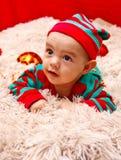 Χριστούγεννα ανασκόπησης μωρών που απομονώνονται πέρα από το λευκό Στοκ εικόνες με δικαίωμα ελεύθερης χρήσης