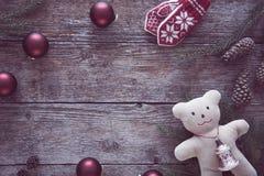 Χριστούγεννα ανασκόπησης που τονίζονται Στοκ Εικόνα