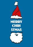 Χριστούγεννα ανασκόπηση&sigma Χριστούγεννα εύθυμα santa απεικόνιση αποθεμάτων