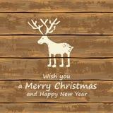 Χριστούγεννα αστείο deer Στοκ εικόνες με δικαίωμα ελεύθερης χρήσης