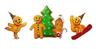 Χριστούγεννα ατόμων μελοψωμάτων ελεύθερη απεικόνιση δικαιώματος
