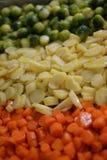 Χριστούγεννα λαχανικών ψητού Στοκ Εικόνα
