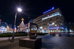 Χριστούγεννα Βερολίνο νύχτας Στοκ φωτογραφία με δικαίωμα ελεύθερης χρήσης