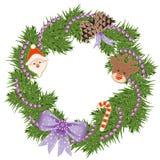 Χριστούγεννα γιρλαντών Στοκ φωτογραφία με δικαίωμα ελεύθερης χρήσης