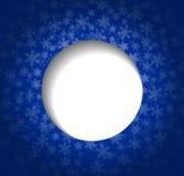 Χριστούγεννα γραφικά στο μπλε χρώμα Διανυσματική απεικόνιση