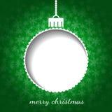 Χριστούγεννα γραφικά στο πράσινο χρώμα Απεικόνιση αποθεμάτων