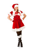 Χριστούγεννα: Γυναίκα νεραιδών Santa Στοκ εικόνες με δικαίωμα ελεύθερης χρήσης