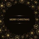 Χριστούγεννα γύρω από το υπόβαθρο Στοκ Εικόνες