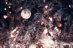 Χριστούγεννα δέντρων ή νέο έτος στοκ εικόνες με δικαίωμα ελεύθερης χρήσης
