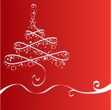 Χριστούγεννα δέντρων καρτώ& διανυσματική απεικόνιση