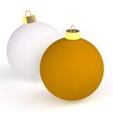 Χριστούγεννα δύο σφαιρών στοκ εικόνα με δικαίωμα ελεύθερης χρήσης