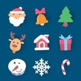 Χριστούγεννα εικονιδίων, διάνυσμα στοκ εικόνες