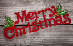 Χριστούγεννα εμβλημάτων εύθυμα Στοκ Φωτογραφία