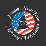 Χριστούγεννα εμβλημάτων εύθυμα Στοκ εικόνα με δικαίωμα ελεύθερης χρήσης