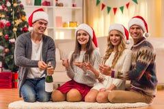 Χριστούγεννα εορτασμού &ep Στοκ Φωτογραφίες