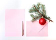 Χριστούγεννα επιστολών Στοκ εικόνες με δικαίωμα ελεύθερης χρήσης