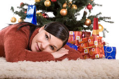 Χριστούγεννα ευτυχή Στοκ Φωτογραφίες